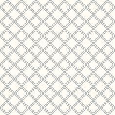 Trellis Grey Mist and Cream fabric by lulabelle on Spoonflower - custom fabric