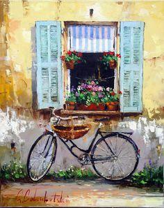 Russian artist Gleb Goloubetski | Provence 78x63 — with Bonjour Aslam Hello.