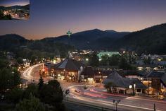 The Gatlinburg lights are beautiful at night!