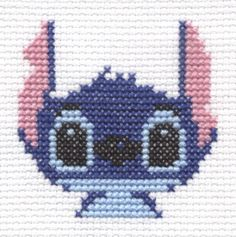 Stitch from Lilo and Stitch cross stitch by ~Lil-Samuu