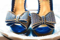 She wore blue pumps to show her Indianapolis Colts pride.  Venue: Lucas Oil Stadium   Shoes: Betsey Johnson