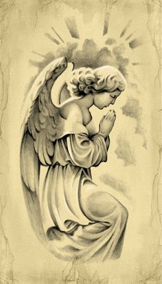 Prayer of an Angel Tattoo Design