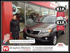 Sabrina Mackay collecting her new Sorento from Adrian. Sabrina had been after a car like this for a while now and after giving Adrian her requirements, she pre-bought this one before it came in to ensure she didn't miss out! | by draytonkia