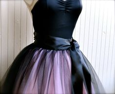 Black and pink tutu skirt for women. Ballet by TutusChicBoutique