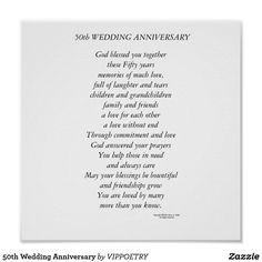 50th Wedding Anniversary Poem Quotes 50 Gifts Ideas