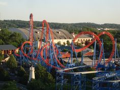 Fahrenheit>Hershey Park....a blast, literally. Sit in the front row and the back row. The wait is worth both experiences