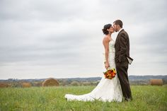 A bride on the rolling green hills of Milky Way Farm. Beautiful!  Thanks http://www.amcunningham.com/ !