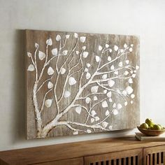 Every work of art is special. As is every tree. And while our interpretation of a tree is indeed expressive and beautiful, it is the magical glint of silvery metallic leaves and branches that provide the spark and shimmer that transforms the room it occupies.