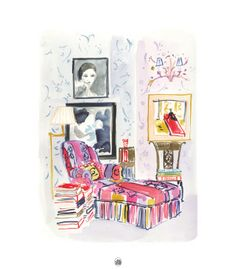 The Perfectly Imperfect Home: How to Decorate and Live Well: Deborah Needleman, Virginia Johnson Virginia Johnson, Painting Collage, Paintings, Vintage Interiors, Layout, Joss And Main, Art Techniques, Les Oeuvres, Home Art