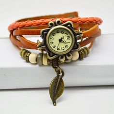Vintage Style Weave WRAP Around Leather Bracelet by FunyBead