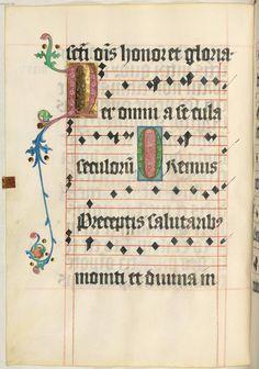 Missale quinque tomis constans, qui omnes multis (plus centum) et nitidissimis picturis ornati sunt (Bd. 3)  - von Ulrich Schreier in Salzburg begonnen und von Berthold Furtmeyr 1489 vollendet Clm 15710 anno 1478 Folio