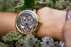 #watch #handmade #dial #art #cloisonne #naturalstone #ceramic #enamel #swissmechanism #carlfaberge #leather #straps #cat #tiger #montenegro #namfleg