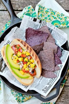 Hot Dog Recipe with Pineapple Mustard and Mango Salsa - ASpicyPerspective.com