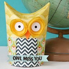 Craft up this easy owl gift box for the end of the school year using something you likely have in your pantry.