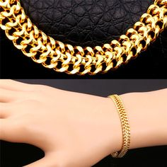 Exceptional A Gold Chain for Men Makes The Perfect Gift Ideas. Exhilarating A Gold Chain for Men Makes The Perfect Gift Ideas. Mens Gold Bracelets, Mens Gold Jewelry, Bracelet Men, Gold Jewellery Design, Rock Jewelry, Jewelry Gifts, Jewelery, Enchanted Jewelry, Bridal Bangles