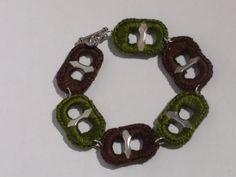 Autumn Green & Brown Crocheted Pop Tab Soda Tab by PopTabilicious, $9.95