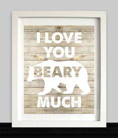 I Love You Beary Much // Woodland Nursery // Bear by NothingPanda