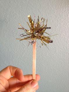 DIY Tinsel Drink Stir Stick