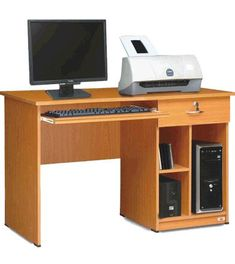 Computer table design for home Home Office Furniture Desk, Home Desk, Hall Furniture, Types Of Furniture, Computer Desk Design, Computer Desks For Home, Computer Tables, Gaming Computer, Pooja Room Door Design