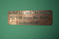 Bible Verse Wall Decor Fixer Upper Wall by IronWolfMetalworking