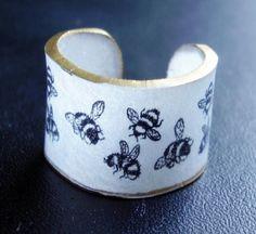 Shrinky Dinks bee ring