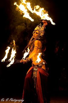 Fire Dance Fire props Tribal Fusion and Fire show FIRE CUPS for Belly dance