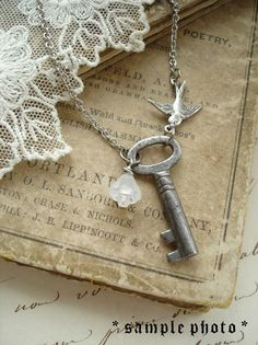 BRIDESMAID+GIFTS+Set+of+3+Antique+Skeleton+Key+by+PreciousPastimes,+$97.50