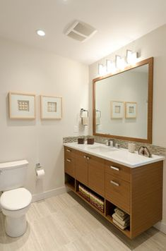 mid century modern bathroom | Mid Century Modern Coastal Getaway midcentury-bathroom
