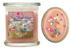 Birthday cake scented candle!