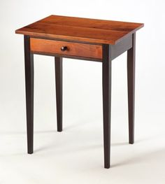 """Furniture Craftsman - Rex White's """"Shaker Style End Table ~ Wenge Wood with Mesquite Top & Drawer Front""""......beautiful."""