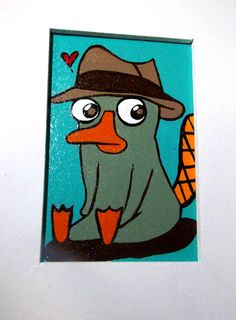 """""""AGENTE P""""  Quadrinho decorativo; pintado à mão; madeira; 15x20 cm; entrega para todo o Brasil.   contato@gicabellinha.com"""