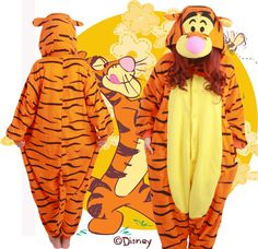Halloween Party Costume  Lovely Tigger Tiger Onesie Pajamas   Costume Unisex Adult One piece Sleepwear Onesie  Tops Party-in Pajama Sets from Women's Clothing & Accessories on Aliexpress.com | Alibaba Group