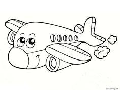 Airplane coloring page 05 Airplane Coloring Pages, Free Kids Coloring Pages, Preschool Coloring Pages, Coloring Sheets For Kids, Colouring Pages, Printable Coloring Pages, Coloring Books, Art Drawings For Kids, Drawing For Kids