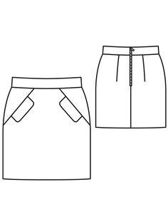 Викрійка спідниця міні з рельєфними швами: купити викрійки, пошиття і моделі | Burdastyle