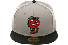 The Clink Room Big Apple Mascot Fitted Hat by New Era - Gray, Navy Blue | Hat Club