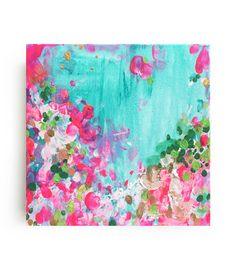 May Garden Canvas Print. Stretched canvas print of the original painting by Christine Lindstrom.