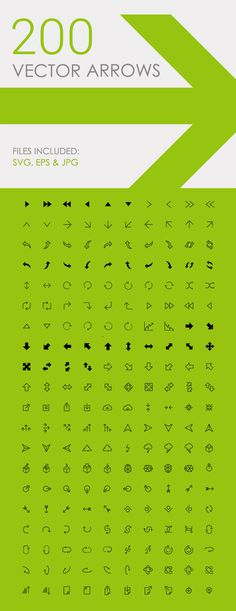 200 Free Vector Arrow Icons