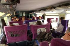 This is what the inside of a first class high speed train looks like in France.