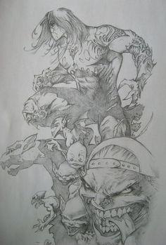 Marc Silvestri Darkness Tribute pencil Drawing by ~DesJnr on deviantART