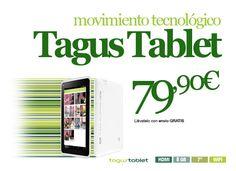 Gracias a la conexión WI-FI que incorpora la Tagus Tablet podrás navegar por Internet y compartir esos momentos de ocio en tus redes sociales... Recuerda que vivir es compartir. #TagusTablet