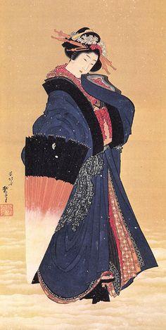 Glasbild Japanischer Bambus Poster Katsushika Hokusai Leinwandbild