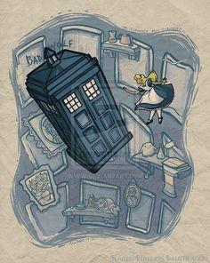 Alice et le Docteur Who.
