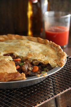 Beef Pot Pie.  I added a lot more veggies and made them mini.  I used pie dough I already had in the freezer so can't say anything about the crust.  They freeze well and it tastes great.  My toddler ate them up.