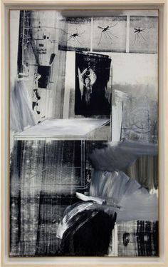 Robert Rauschenberg, responsable of the abstract expressionisim Transforming every day objects . Method of combining elements to make a composition. Tension of materials of real life and art. Art was living life for him. Robert Rauschenberg, Painting Collage, Collage Art, Paintings, Camille Pissarro, Joan Mitchell, Abstract Expressionism, Abstract Art, Pop Art Movement