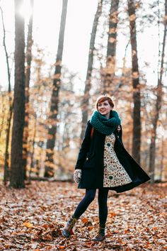 old scarf old coat Samantha Pleet dress Modcloth tights vintage boots old mittens Choies cat wallet Rebecca Minkoff backpack