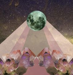 "Saatchi Online Artist: Marina Molares; Digital, 2012, Assemblage / Collage ""Full Moon"""