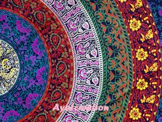 Beautiful Screen printed Indian Mandala Design Wall hanging Tapestries ,This is a art of Culture of India.This beautiful Gorgeous design of Art in
