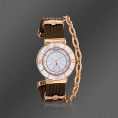 Tropez Stainless Steel and Rose Gold Plate Women's Watch. Don't let time pass you by without this stylish watch this holiday season. Perfectly matches any fall ensemble. Gemstone Jewelry, Diamond Jewelry, Gold Jewelry, Fine Jewelry, Stylish Watches, Cool Watches, Charriol, Boot Bling, Morris