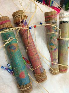 1st grade Native American rain stick
