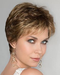 A thoughtfully structured short wig, the Air lace front monofilament wig by Ellen Wille is a meticulously crafted hand-tied pixie. Short Grey Hair, Short Hair With Layers, Short Hair Cuts For Women, Short Hair Styles, Long Pixie Hairstyles, Pixie Haircut, Short Hairstyles For Women, Cool Hairstyles, Short Layered Haircuts